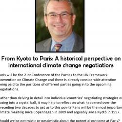 From Kyoto to Paris: A historical perspective on international climate change negotiations