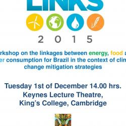 LINKS 2015: Workshop on the linkages between energy, food and water consumption for Brazil in the context of climate change mitigation strategies